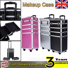 4 In 1 Makeup Case Beauty Cosmetic Jewelry  Hairdressing Nail Vanity Box Trolley