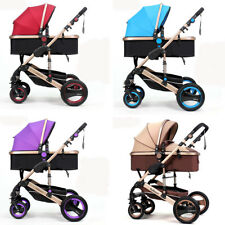 Baby Stroller 2 in 1 Folding Baby Carriage High view Newborn pushchair bassinet