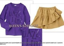 Nwt Crazy 8 girls size 4 4T purple sequin t-shirt top tiered skirt set outfit