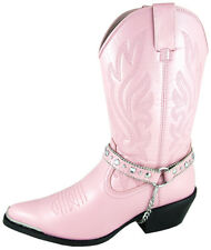Smoky Mountain Boots Womens Charlotte Pink Faux Leather Harness Western