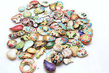 Mixed Color Cloisonne Enamel Spacer loose Beads Pendant  Jewelry Making