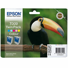 GENUINE EPSON TOUCAN SERIES COLOUR INK CARTRIDGE TWIN PACK- T009 / C13T00940210