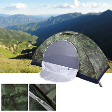 1&2 Person Waterproof Outdoor Foldable Tent Camping Hiking Travel Camouflag New