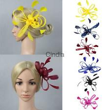 Ladies Day Feather Fascinator Wedding Party Cocktail Headpiece Hair Clip Brooch