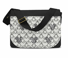 Mickey Watercolor Black Messenger Bag - Laptop School Shoulder Bag