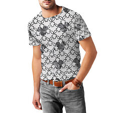 Mickey Mouse Watercolor Black Mens Sport Mesh T-Shirt XS-3XL All-Over-Print Gym