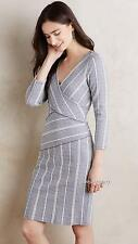 NEW Anthropologie Maeve Wrapped Stripe Column Dress  Size XS-S-M-L-XL