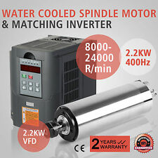 2.2KW WATER COOLED SPINDLE MOTOR 2.2KW VFD MILL GRIND HIGH SPEED ENGRAVING
