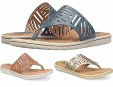 Womens BORN ELIORA SLIDE LEATHER SANDALS, Silver OR Blue OR Tan, NIB, FREE SHIP!