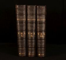 c1842 3vol HOLY BIBLE Illustrated Scott and Symington Folding Plates