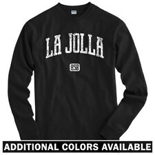 La Jolla 858 California Long Sleeve T-shirt - LS Men S-4X - Gift San Diego Beach