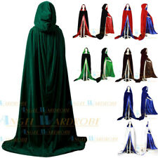 Stock Black Hooded Cloaks Capes MEDIEVAL Witchcraft Halloween Wedding Shawl Sca