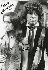 TOM BAKER & LOUISE JAMESON Signed In Person 12X8 Photo DR WHO Photo Proof COA
