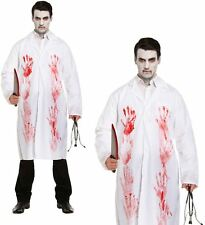 NEW ADULT MENS MAD BLOODY DOCTOR SCARY BLOOD HALLOWEEN LAB SURGEON COAT COSTUME