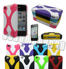 for iphone 4 4s hybrid soft and hard case 3D cool X design & film//