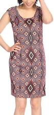 NEW - Kate & Mallory® Printed Knit Cap Sleeved Scoop Neck Dress