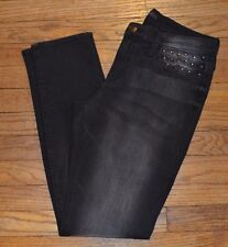 Rock & Republic Low Rise Skinny Berlin Jeans BULLET Black Jens w/ Stud Accents