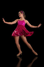 Hot Pink Dance Costume: Sway, Jazz, Lyrical, 70's Disco, Slow Modern, Lyrical