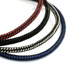 8MM Genuine Leather & Nylon Braided Cord Stainless Steel Magnetic Lock Necklace