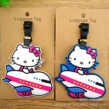 Cute Hellokitty Silicone Luggage Tags ID Card Holder Case GS-C60WB