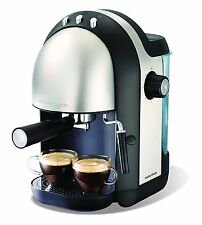 Morphy Richards  Accents Espresso Coffee Maker -Black/Stainless Steel Free P&P