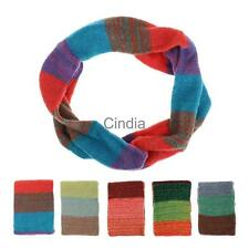 Hot Sale Soft Women Colorful Knitting Wool Neck Circle Wool Snood Scarf Wrap