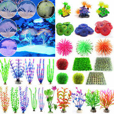 Fluorescent Artificial Plastic Coral Water Plant Fish Tank Aquarium Decoration