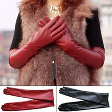 New Long PU Leather Gloves Party Women Gloves Warm Outdoors Long Sexy Gloves 1pc
