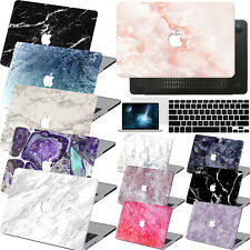 Laptop Marble Painted Hardshll Logo Cutout Hard Matte Case Cover For Macbook Mac