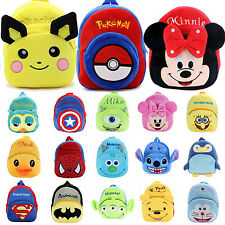 Baby Kids Girls Boys Cartoon Animal Plush Backpack Shoulder School Bags Rucksack