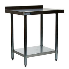 "NEW 24"" x 24"" Commercial Stainless Steel Table with 2"" Backsplash"