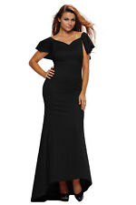 Women Dress Off shoulder Mellow Neck Gorgeous Ruffle Accent Hot Red Party Gown