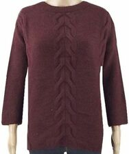 New Ex M&S Ladies Burgundy Warm Casual Winter Jumper Size 10 - 22 Long Sleeve