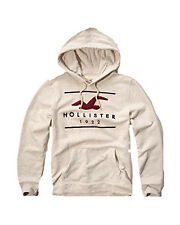 New Hollister By Abercrombie & Fitch Men's Pullover Hoodie Cream 2016 Nwt
