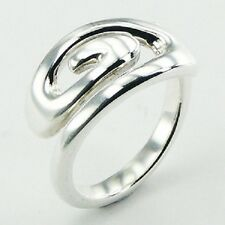 Silver ring 925 sterling band twirl design ring size 6us 7us 8us 9us brand new