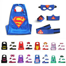 Comics Cartoon Dress Up Halloween Costumes Kids Superhero Supergirl Capes & Mask