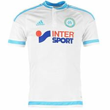 Adidas Olympique de Marseille Home Jersey 2015 2016 Juniors White/Blue Shirt Top