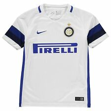 Nike Inter Milan Away Jersey 2016 2017 Juniors White/Blue Football Soccer Shirt