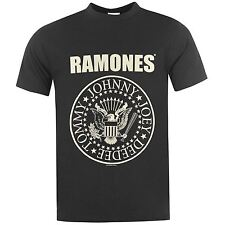 Official The Ramones Logo T-Shirt Mens Black Tee Shirt Top