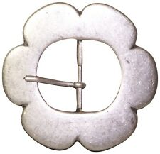"FRONHOFER Women's belt buckle, flower buckle, antique silver, for 1.5""/4cm belts"
