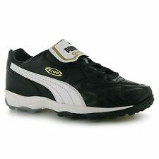Puma King Allround Mens Astro Turf Trainers Blk/Wht/Gld Football Soccer Boots