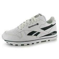 Reebok Classic Leather Clip Mens Shoes Trainers Wht/Blk Sneakers Sports Footwear