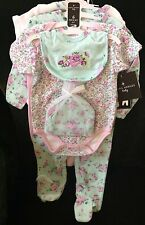 NWT's  6-9M Laura Ashley Baby Girl 6 Pc Layette Gift Set Great Baby Gift!