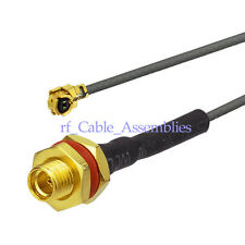 IPX /u.fl to MMCX female bulkhead with O-ring pigtail Cable 1.13mm Coax 50 Ohm