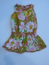 GENIUNE KIDS Girl's White, Yellow, Green and Pink Floral Dress Sz 2T
