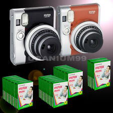 Fuji Fujifilm Instax Mini 90 NEO Classic Instant Photo Camera White Edge Film