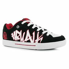 Airwalk Outlaw Skate Shoes Mens Black/Red Casual Trainers Sneakers