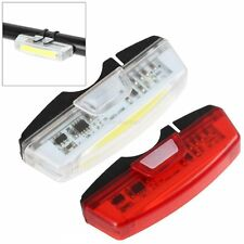 USB Rechargeable Bicycle Bike LED Front /Rear Tail Light Lamps Taillight 6 Modes