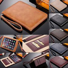 Luxury Leather Magnetic Smart Flip Wallet Case for Apple iPad Stand Hand Strap