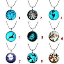 Vogue Magical Glow in the Dark Stainless Steel Pendant Necklace Christmas Gifts